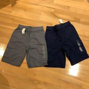 2 Shorts-Boys Navy Blue & Grey Cargo Shorts-Size 8